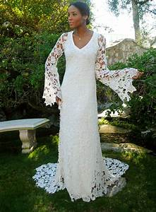 boho wedding dress bell sleeve simple by With bell sleeve wedding dress