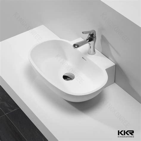 Portable Bathroom Sink by Portable Washing Station Solid Surface Bathroom Sink