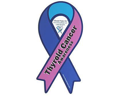 thyroid cancer ribbon color ribbon awareness car magnets choose