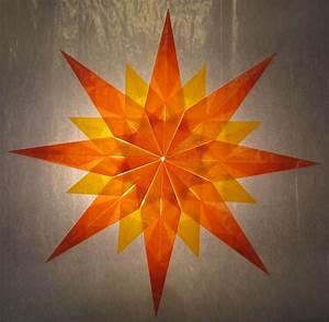 Stern Aus Butterbrotpapier Anleitung : orange gelber stern 16 zacken sterne aus transparentpapier basteln ~ A.2002-acura-tl-radio.info Haus und Dekorationen