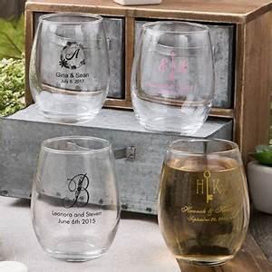 personalized stemless wine glass wedding favors 9 ounce With stemless wine glass wedding favors