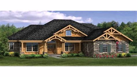 one house plans with wrap around porch craftsman style house plans one ranch with basement