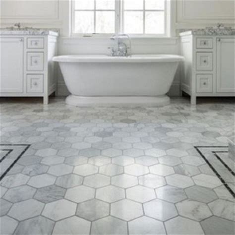 Large Marble Hexagon Floor Tile by Trend Hexagon Tile Statements In Tile Lighting Kitchens