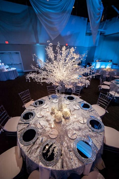 whimsical winter wonderland wedding centerpieces