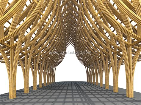 portal frame structure bamboo architecture