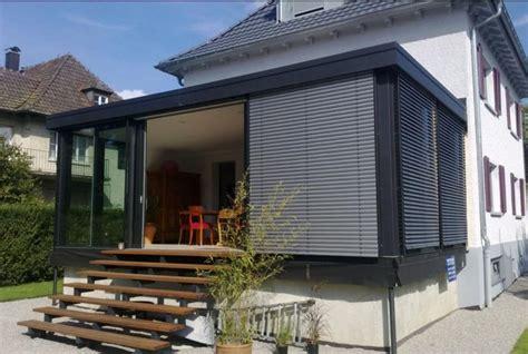 verande finstral verande finstral con tetto piano e in alluminio sistema