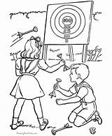 Coloring Pages Sports Hiking Printable Archery Help Printing Baseball sketch template