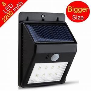 éclairage Extérieur Sans Fil : lampe solaire 8 led sans fil tanche avec d tecteur de ~ Dailycaller-alerts.com Idées de Décoration