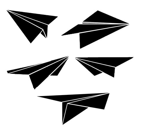 paper airplane clipart black and white paper airplane and repeating chevron template free black