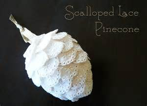 How to Make Lace Pine Cone Ornament