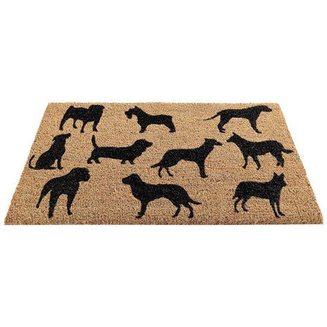 Black Coir Doormat by Black Montage Coir Doormat By Garden Selections