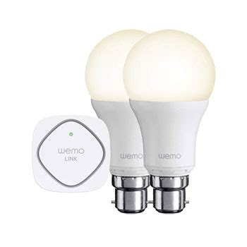 wemo light bulb wifi wireless smart led bayonet b22 bulb starter set