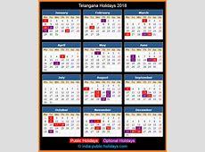 Telangana Holidays 2018