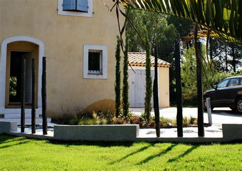 bureau design contemporain aménagement jardin contemporain aix en provence