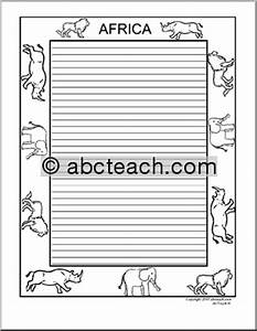 animal print border writing paper ideas