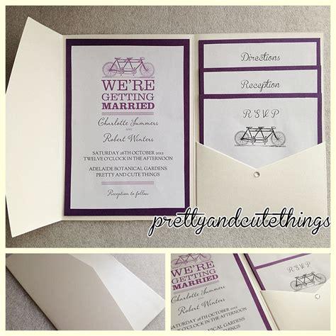 ivory vintage wedding invitations diy pocket fold
