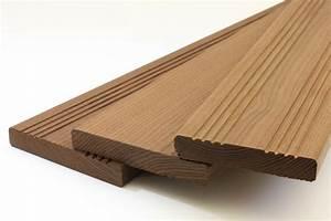Lame De Bois Pour Terrasse : lame terrasse fr ne thermo 140 mm pefc 100 la ~ Premium-room.com Idées de Décoration