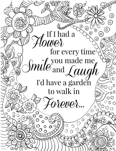 Coloring Quotes For Adults Printable by Quote Coloring Pages For Adults And Coloring