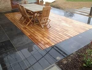 Comment Nettoyer Une Terrasse En Pierre : terrasse bois autoclave et pierre bleu ~ Melissatoandfro.com Idées de Décoration
