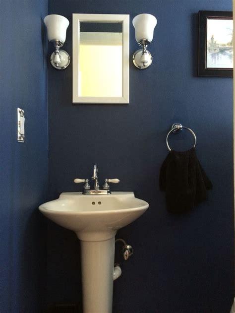 small 1 2 bathroom ideas wall paint is indigo batik from sherwin williams small
