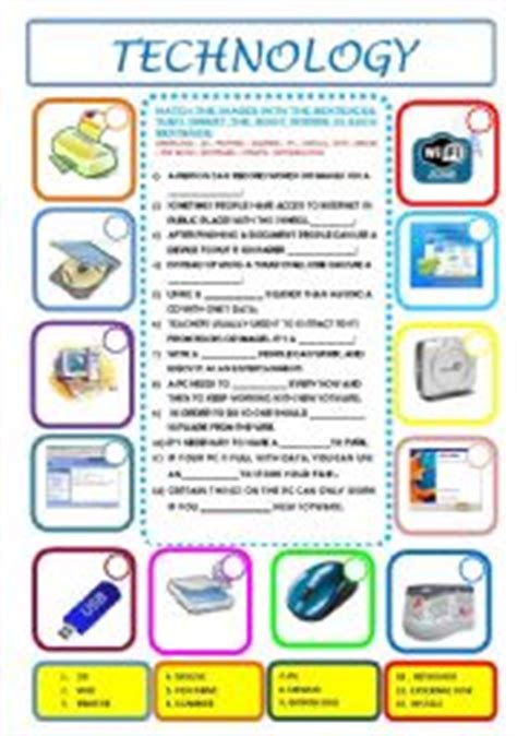 worksheets about technology pdf worksheets technology