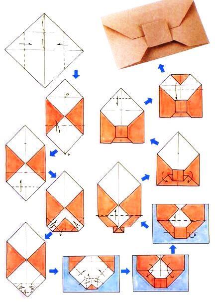 Enveloppe En Origami Origami D Enveloppe Nœud Papillon