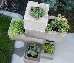 DIY Cinder Block Planter The Garden Glove