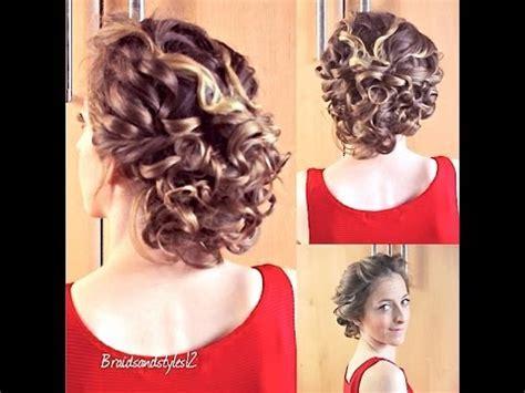 Curly Updo Hair Tutorial   Braidsandstyles12   YouTube