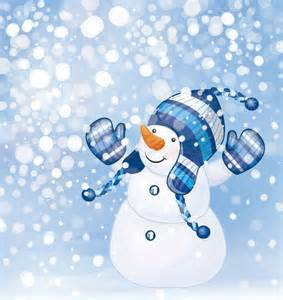 Cute Winter Cartoon Snowman