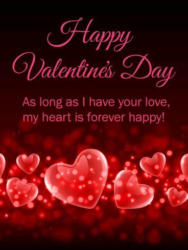 heart   happy happy valentines day card
