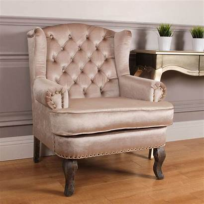 Velvet Chair French Antique Cream Chairs Crushed