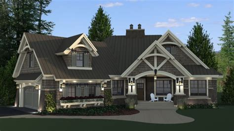 house plans with daylight basement craftsman style house plans single with daylight
