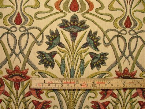 Arts And Crafts Upholstery Fabric by Nouveau Thick Designer Jacquard Curtain