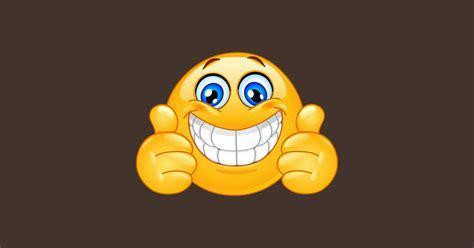 Big Smile Emoji Emoticon with Thumbs up - Emoji - Magnet | TeePublic AU