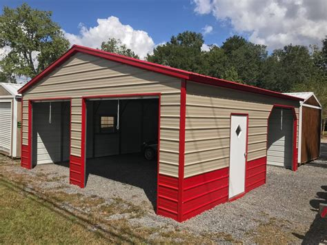Metal Garage Pics by Enclosed Garage Customization Options Wholesale Direct