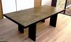 Table Bois Et Noir : terre et metal table pop et bois ~ Dailycaller-alerts.com Idées de Décoration