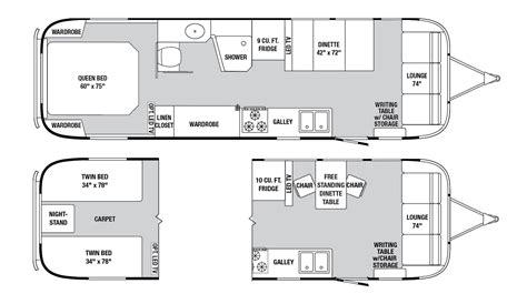 Airstream Excella Motorhome Floor Plan