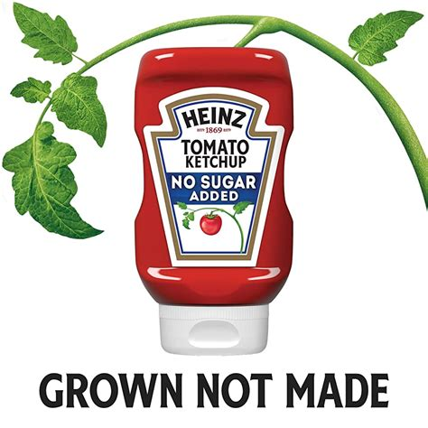 Buy Heinz Tomato Ketchup, No Sugar Added (13 oz Bottles ...