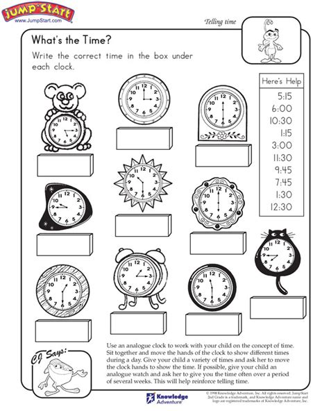 quot what s the time quot 2nd grade learning to tell time