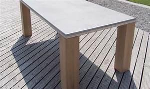 Esstisch Holz Edelstahl : esstisch aus beton holz edelstahl form in funktion ~ Whattoseeinmadrid.com Haus und Dekorationen