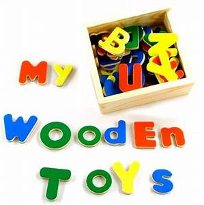 Magnetic letters alphabet learning toy at my wooden toys for Alphabet letters toys