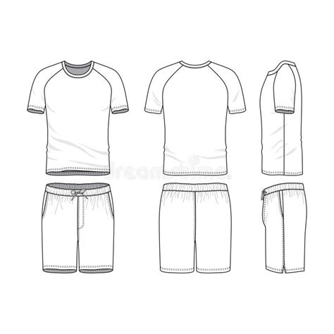 shorts template vector templates of blank t shirt and shorts stock vector illustration of outline shorts