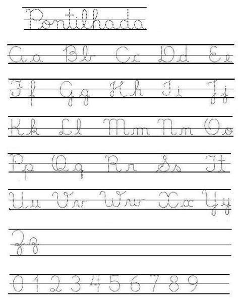 abecedario caligrafia cursiva imprimir imagui letras pinterest school abc learning