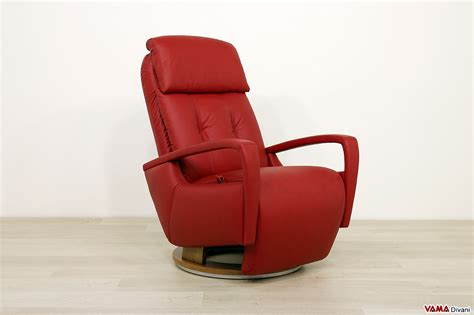 poltrona relax manuale moderna reclinabile  girevole