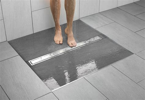 tile ready shower pan kerdi line brings more choices to the linear drain