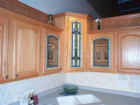 stained glass kitchen cabinets stained glass door painting on glass 5696