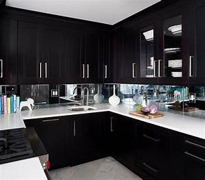 Espresso kitchen cabinets with mirrored backsplash for What kind of paint to use on kitchen cabinets for metal wall art mirrors