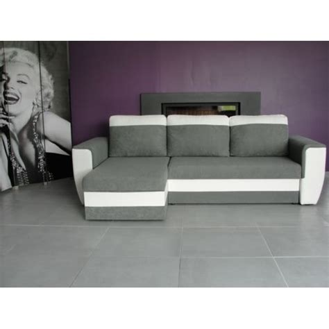 bestmobilier indiana blanc gris canap 233 d angle achat vente canap 233 s pas chers rueducommerce