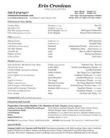 student on acting resume bite size business for actors resumes listing commercials
