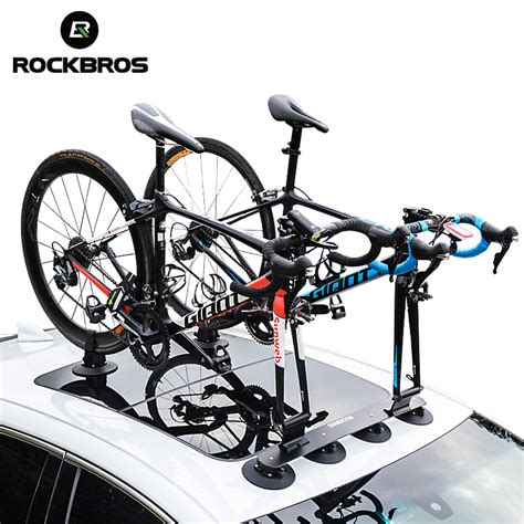 rockbros bicycle rack suction roof top bike car racks